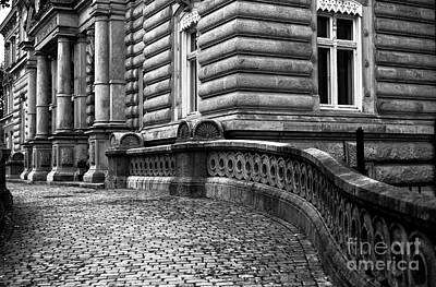 Photograph - Crooked Hamburg Street Mono by John Rizzuto
