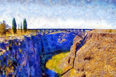Digital Art - Crooked River Bridge by Kaylee Mason