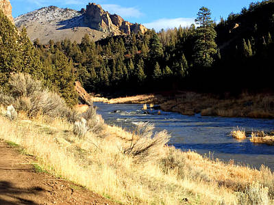Photograph - Crooked River December Morning by Nancy Merkle
