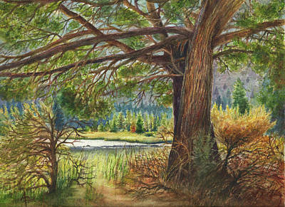 Painting - Crooked River Shade by Arthur Fix