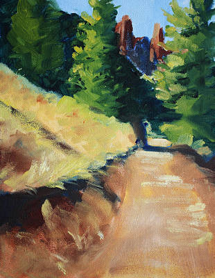 Painting - Crooked River Trail by Nancy Merkle