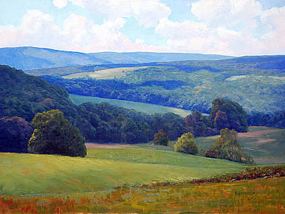 Blue Ridge Painting - Crooked Run Valley by Armand Cabrera
