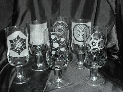 Glass Art - Crop Circle Stems by Ralph Renick