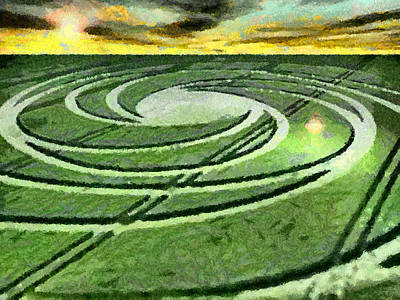 Crop Circles In Field Art Print
