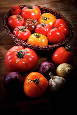 Autumn Photograph - Crop Tomatoes by Letty17