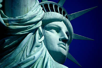 Cropped Image Of Statue Of Liberty Art Print by Frank Schiefelbein / Eyeem