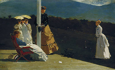 Key West Painting - Croquet Match by Celestial Images