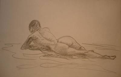 Natural Forces Mixed Media - Croquis Nude by Genio GgXpress