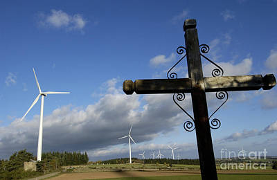 Eolienne Photograph - Cros And Winturbine by Bernard Jaubert