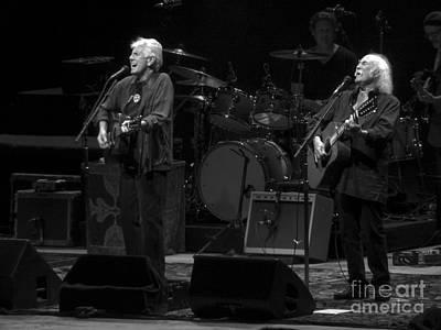 Csn Photograph - Crosby And Nash by David Rucker
