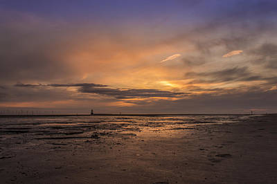 Crosby Photograph - Crosby Beach After Sunset by Paul Madden