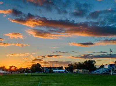 Crosby Field Sunset Art Print