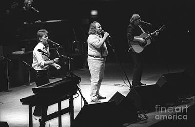 Graham Nash Photograph - Crosby Stills And Nash by Concert Photos