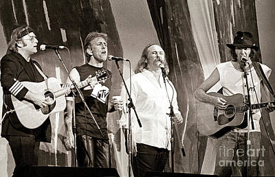 Graham Nash Photograph - Crosby  Stills  Nash  And Young 1985 by Chuck Spang