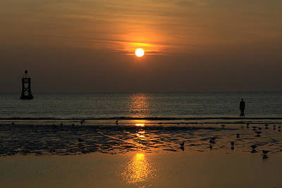Photograph - Crosby Sunset Merseyside by Phillip Orr