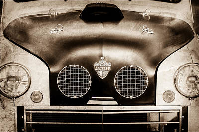 Photograph - Crosley Front End Grille Emblem by Jill Reger