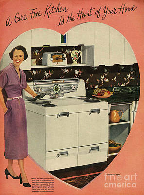Crosleys  1950s Uk Cookers Kitchens Art Print by The Advertising Archives