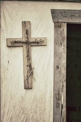 David Bowman Photograph - Cross And Doorway by David Bowman