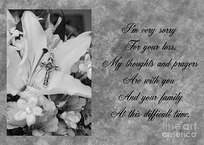 Photograph - Cross And Flowers Sympathy by JH Designs
