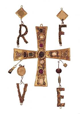 Cross And Letters With Inlay Art Print