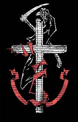 Reaper Mixed Media - Cross And The Reaper by Wayne Adams