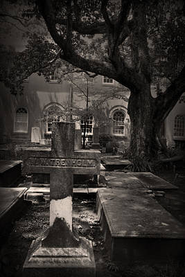 Photograph - Cross And Tree In Sepia by Kelly Hazel