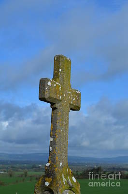 Cross At Cashel Art Print by DejaVu Designs