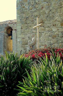 Photograph - Cross At San Juan Mission by Rachel Munoz Striggow
