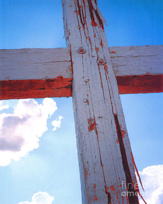 Photograph - Cross At San Xavier Du Bac In Copper Light by Heather Kirk