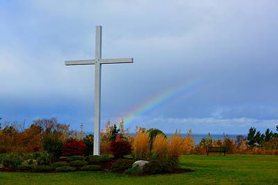 Photograph - Cross At The End Of The Rainbow by Keith Stokes