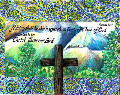Cross Art Print by Catherine Saldana