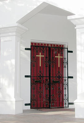 Photograph - Key West Church Doors by Bob Slitzan