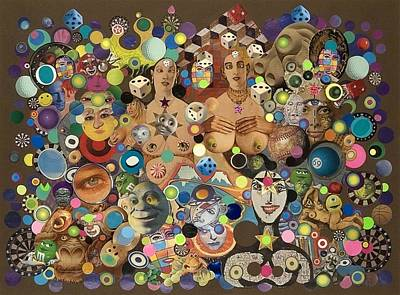 Mixed Media - Cross Eyed Ladies by Douglas Fromm