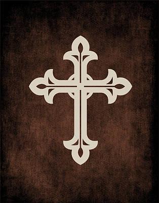 Religious Cross Painting - Cross Grunge I by Tamara Robinson