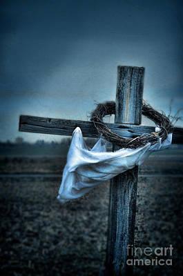 Cross In A Field Print by Jill Battaglia