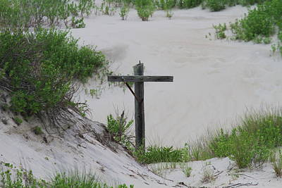 Cross In The Dunes Art Print