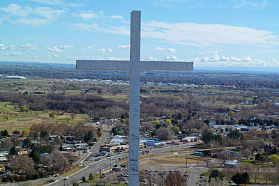 Cross Looking Out From Above Original by Russ McElroy