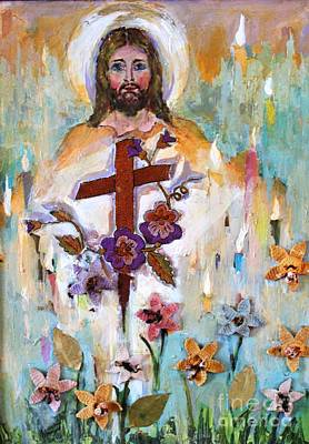 Cross Of Christ Art Print by Mary Spyridon Thompson