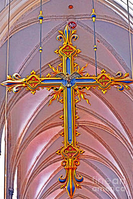 Photograph - Cross Of Church Of Our Lady by Elvis Vaughn