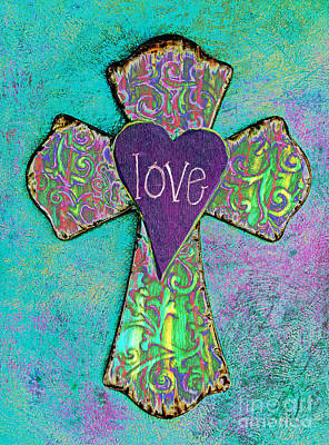 Photograph - Cross Of Love by Pattie Calfy
