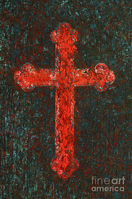 Painting - Cross Of Red by Pattie Calfy