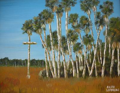 Unusual Religious Painting - Cross Of The Nature Coast by Ralph Loffredo