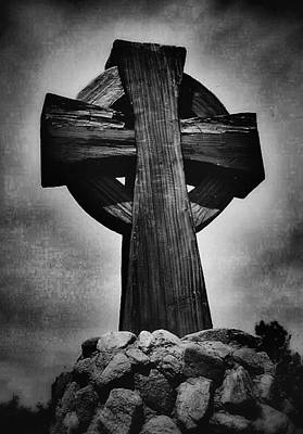 Photograph - Cross Of The Rocks In Black And White by Nadalyn Larsen