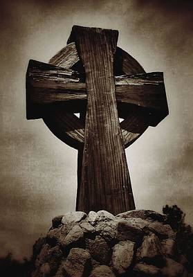 Photograph - Cross Of The Rocks In Sepia by Nadalyn Larsen
