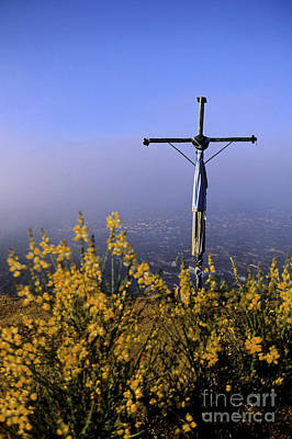 Photograph - Cross On Peruvian Hill by Ryan Fox