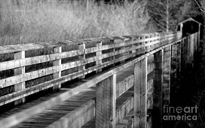 Photograph - Cross Over The Bridge - Bw by Marilyn Wilson