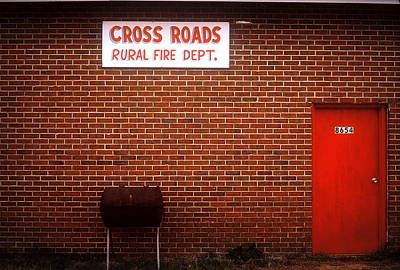 Abstract Shapes Janice Austin Royalty Free Images - Cross Roads Fire Department Royalty-Free Image by Rodney Lee Williams