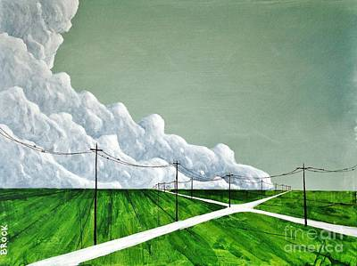 Painting - Cross Roads by Kyle  Brock