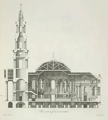 Book Of James Photograph - Cross Section Of A Building by British Library