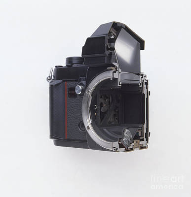 Inner Part Photograph - Cross-section Of A Camera by Dorling Kindersley